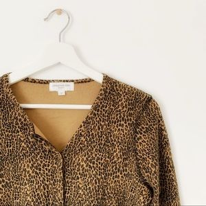 Jones New York - Leopard Print Cardigan